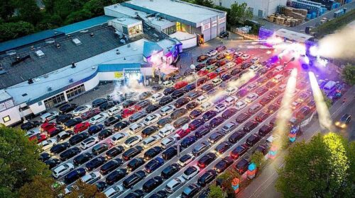 drive in show, car rave